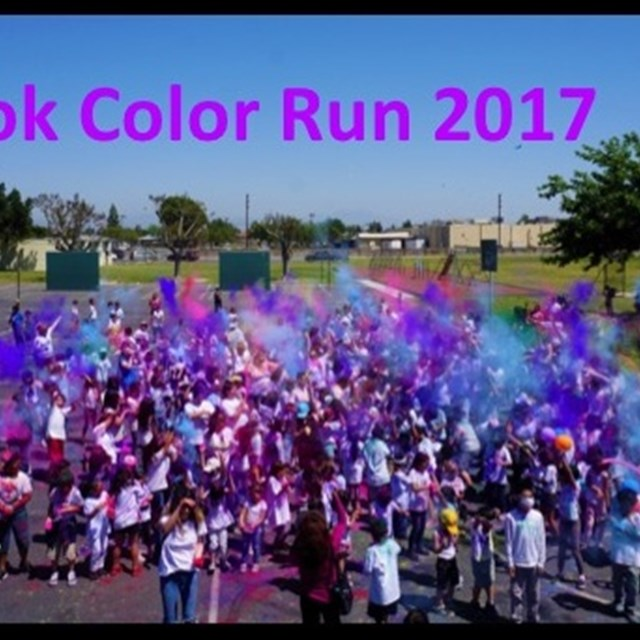 Students taste the rainbow at Cook's annual Color Run!