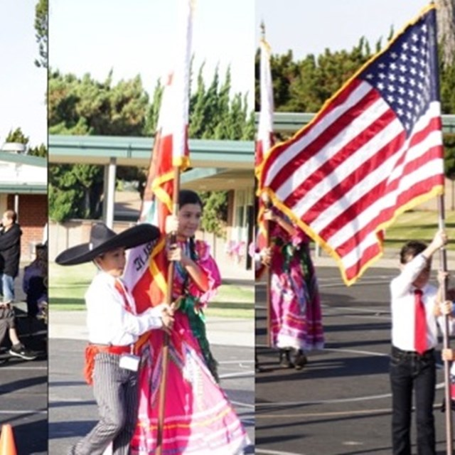 The cultural celebration parade embraces every nationality. We are a community.