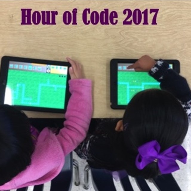 Come join our Hour of Code 2017 to see students mastering technology!