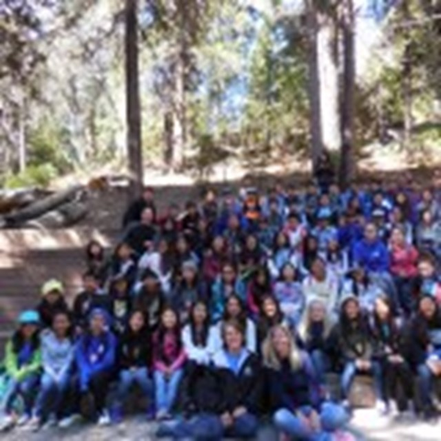 Group photo of students at Outdoor Science School. We had a blast!