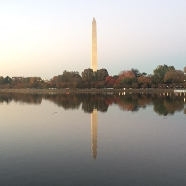 The Washington Monument's reflection in the water captures the hearts of many.