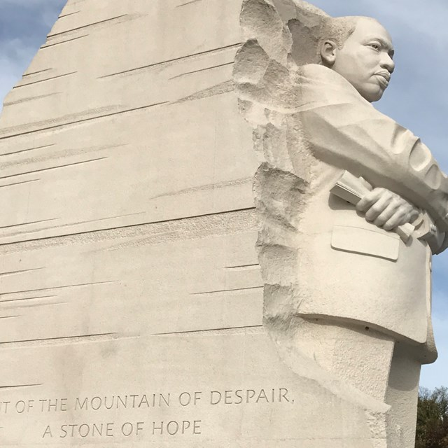 This Martin Luther King statue reminds students of Civil Rights activists' endeavors.