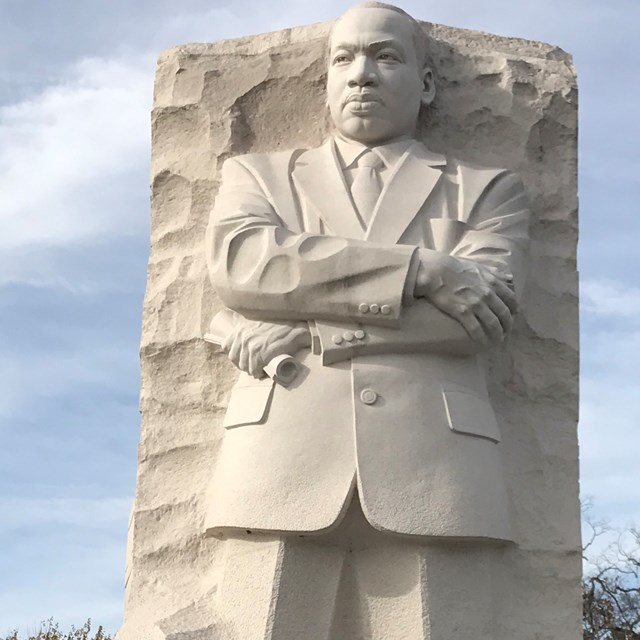 Looking at the Martin Luther King statue is like looking directly at a hero.