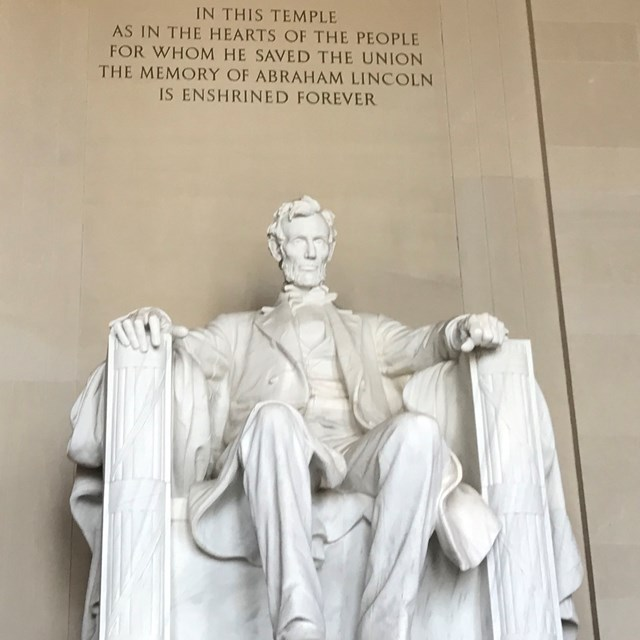 Lincoln's statue is gigantic in person, making the tour all the more interesting.
