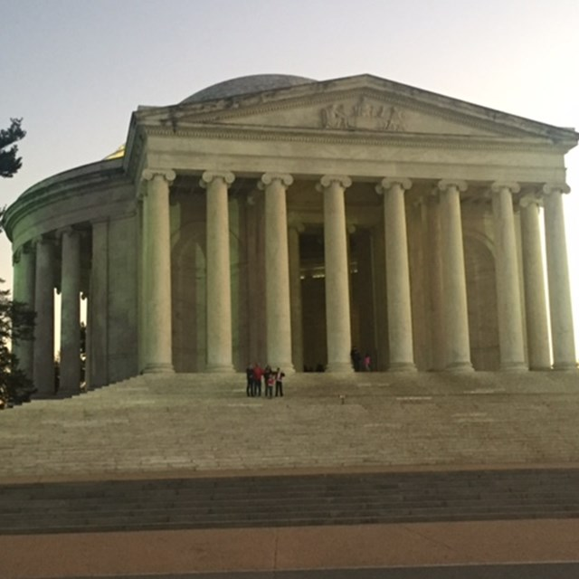 The Lincoln Memorial transforms in the morning's lighting.