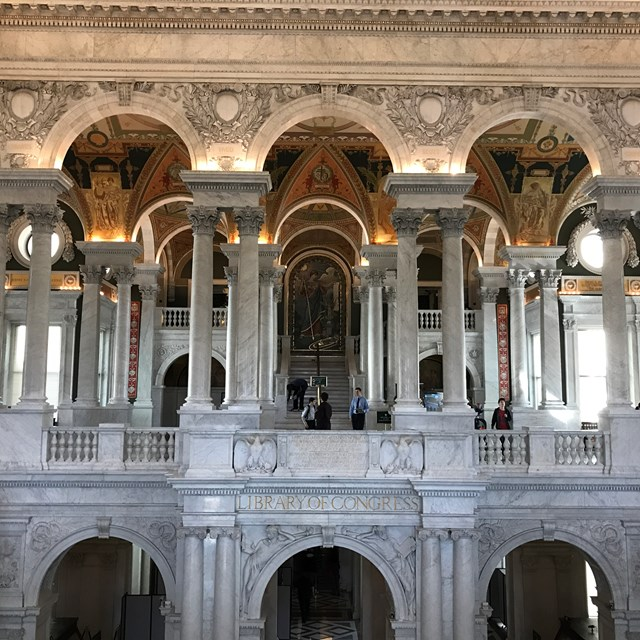 The Library of Congress is one of the most significant landmarks from the trip.