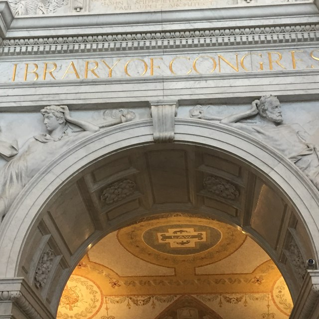 The detail on the Library of Congress's walls is impressive!