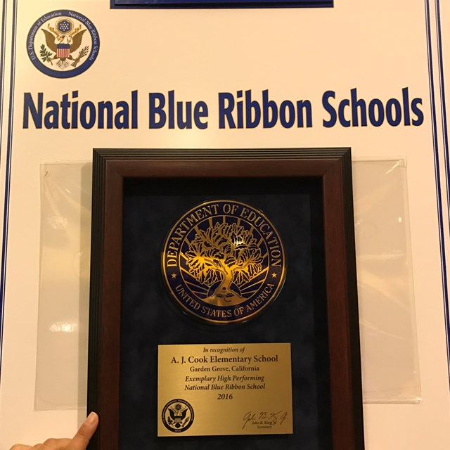 Cook Elementary is mentioned in the newspaper highlighting Blue Ribbon Schools.