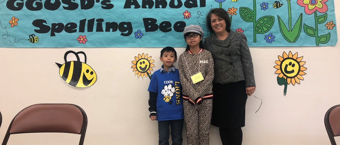 Congratulations to Cook's spelling bee champion's, Emily and Justin!