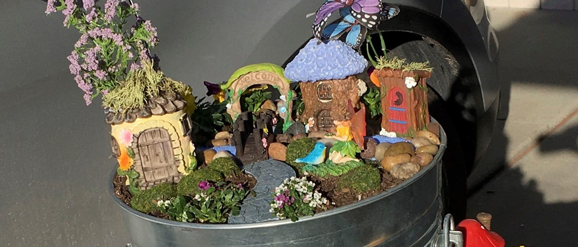 Cook Fairy Garden by Kim Weathers - Created for Garden Grove's Art in the Park Day!