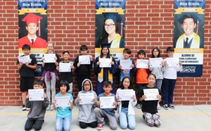 Bolsa Grande Students Promote College Goals at Cook Elementary - article thumnail image
