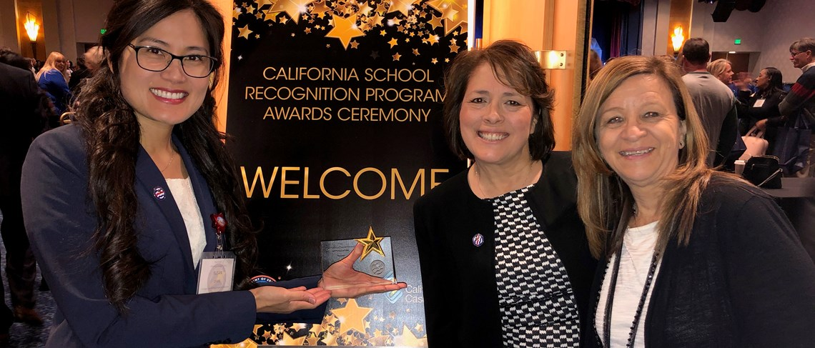 Cook Awarded CA Distinguished School 2020!
