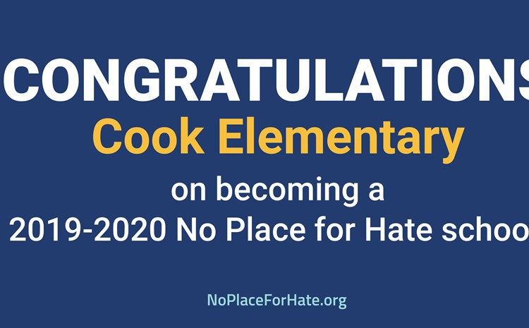 Cook is a No Place for Hate School - article thumnail image