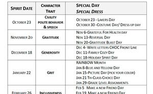 20-21 Spirit Days - article thumnail image